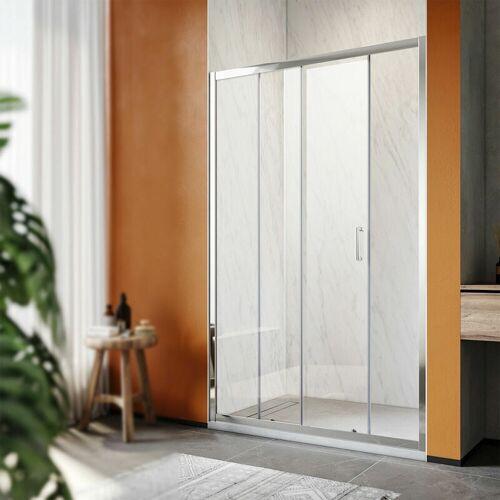 SONNI Duschkabine Duschtüren 100x185cm Duschschiebetür Dusche