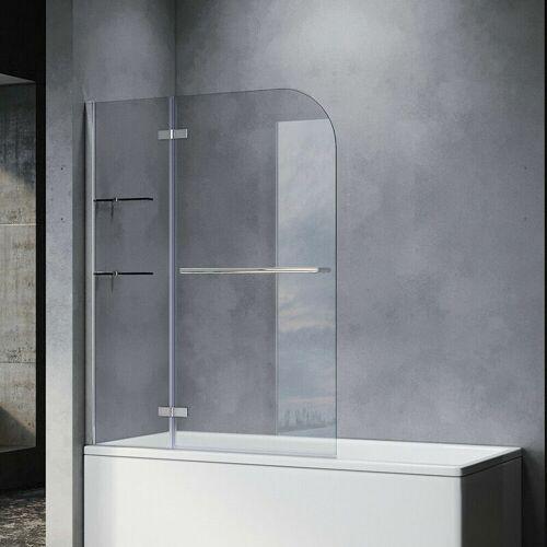 SONNI Badewannenaufsatz Dusche Badewannenfaltwand Glas Duschwand für