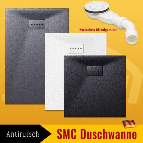 SONNI Duschwanne Duschtasse Super Flach aus Antirutsch Bad Weiß,140 x 90