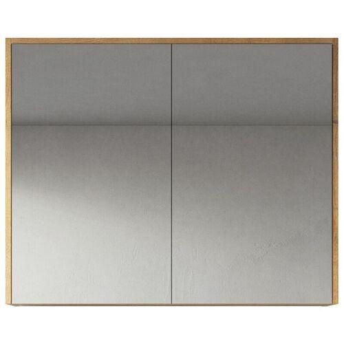 BADPLAATS Spiegelschrank Cuba 80cm Eiche - Schrank Spiegelschrank Spiegel