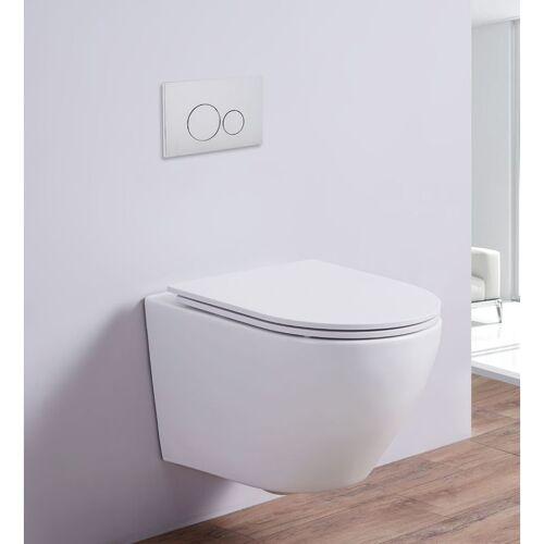 Impex-bad_de - Spülrandloses Wand-WC inkl. Soft-Close Sitz WHR-446071