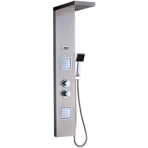 OBEEONR Duscharmaturen Set mit Thermostat, Regendusche Duschbrause Handbrause