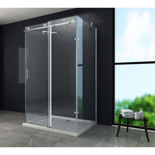 GLASDEALS U-Duschkabine VANO 120 x 80 x 195 cm - Klarglas