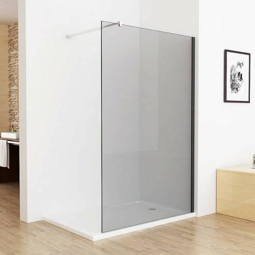 MIQU Walk in Dusche Duschwand 120 x 195 cm Duschtrennwand Duschabtrennung