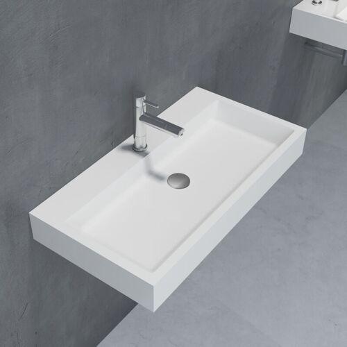 BERNSTEIN Waschbecken Aufsatzwaschbecken PB2143 aus Solid Stone Mineralguss –