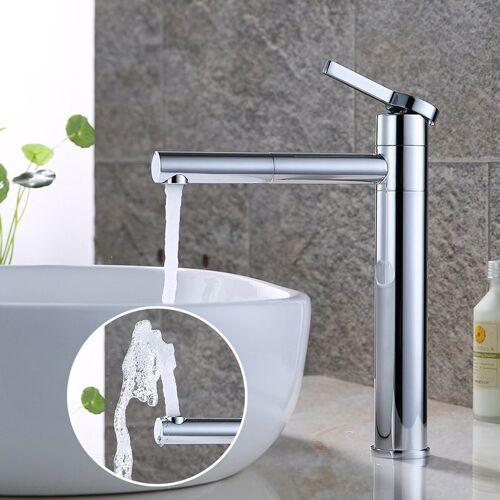 HOMELODY Wasserhahn Bad Hoch, Doppelt 360° drehbar Waschtischarmatur Messing
