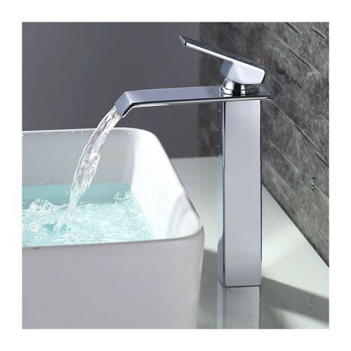 HOMELODY Badarmatur wasserfall Wasserhahn Bad hoch Waschtischarmatur