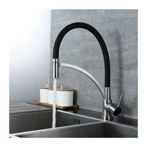 HOMELODY Wasserhahn Küche Schwarz Spiralfederarmatur Schwarz Küchenarmatur
