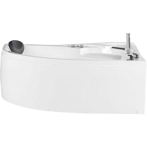 Beliani - Whirpool-Badewanne Weiß Links 150 cm aus Sanitäracryl mit