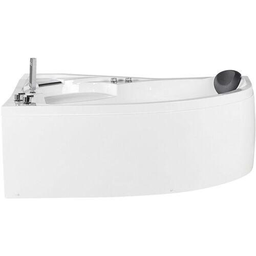 Beliani - Whirpool-Badewanne Weiß Rechts 150 cm aus Sanitäracryl mit