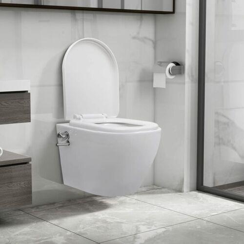 YOUTHUP Wand-WC ohne Spülrand mit Bidet-Funktion Keramik Weiß - Youthup
