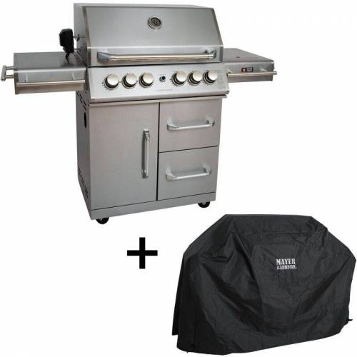 MAYER BARBECUE Gasgrill MGG 342 Master Grill Grillwagen Standgrill Gartengrill 20,7 kW