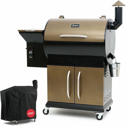 BBQ-TORO Pellet Smoker Grill PG1   Schwarz - Gold   Pelletgrill - Bbq-toro