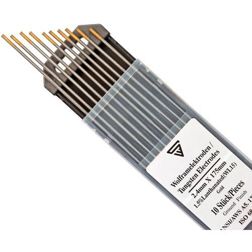 STAHLWERK 10 x STAHLWERK WIG Wolfram Schweißelektroden 2,4 x 175 mm WL15 gold