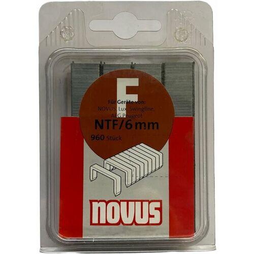 NOVUS 960 Klammern 6mm,Typ F NTF/6mm für Hammertacker, Tacker-Klammern, Nr.: