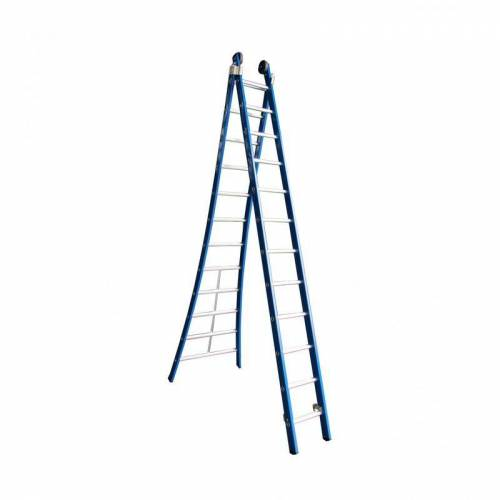 ASC GROUP ASC Premium Kombi Sprossenleiter 2x8 Sprossen
