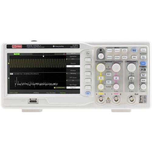 RS PRO RSDS 1052 DL + 2-Kanal Oszilloskop, Tisch, 50MHz
