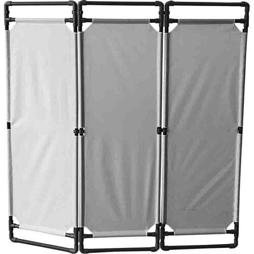 RS PRO Freistehende Barriere PVC Grau Absperrung