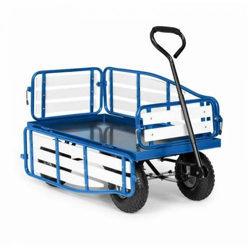 WALDBECK Ventura Handwagen Bollerwagen Schwerlast 300 kg wetterfest Stahl WPC