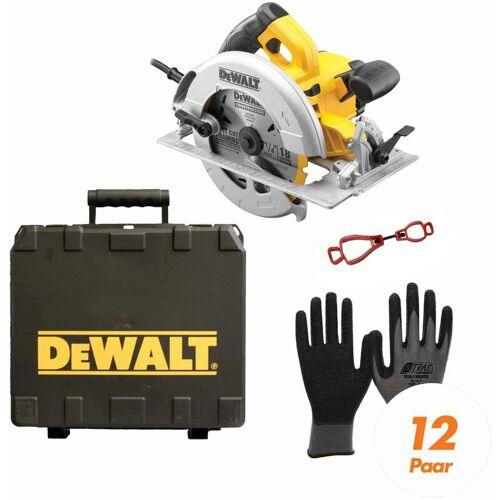 DeWALT Handkreissäge DWE575K-QS SET inkl. Handschuhclip + 12x