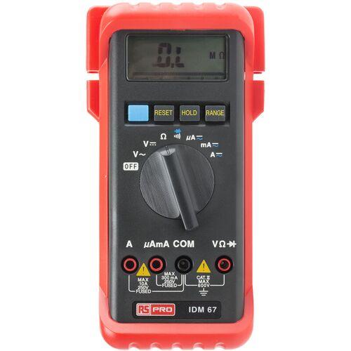 RS PRO IDM67 - Multimeter, 600V ac / 10A ac, 30MΩ, Kat.II - Rs Pro