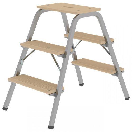 GüNZBURGER STEIGTECHNIK Günzburger Stahl-Holz-Tritt 3 Stufen