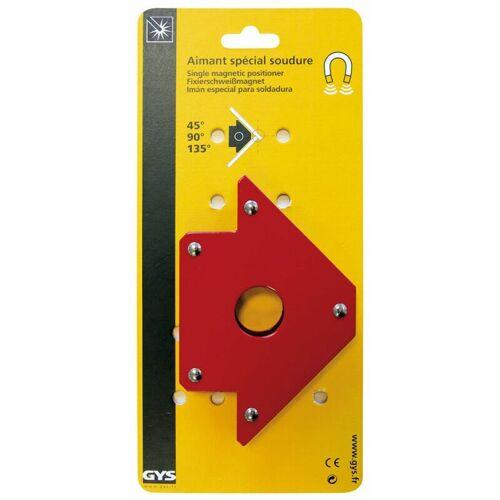 GYS Fixierschweißmagnet Winkelmagnet Rot 30 x 13,8 x 2,5 cm - GYS