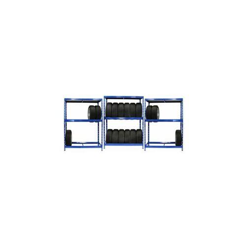 CERTEO Mega Deal   3x Reifenregal   6 Reifen pro Ebene   Fachlast 200 kg Wand