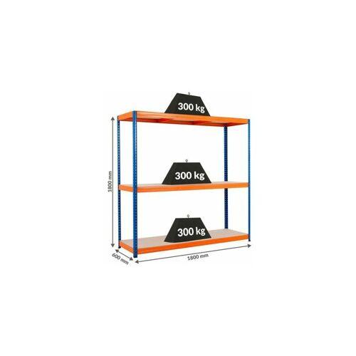 Certeo - Mega Deal   3x Schwerlastregal - Tiefe 60 cm und 1x Werkbank