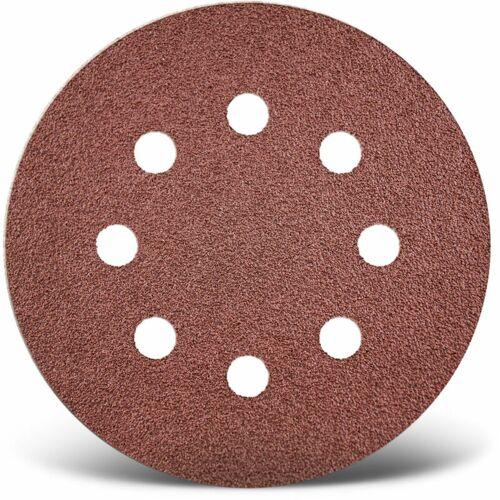MENZER 50 MENZER Klett-Schleifscheiben f. Exzenterschleifer, Ø 125 mm / 8-Loch