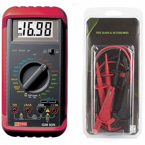 RS PRO Multimeter, Tragbar- - Rs Pro