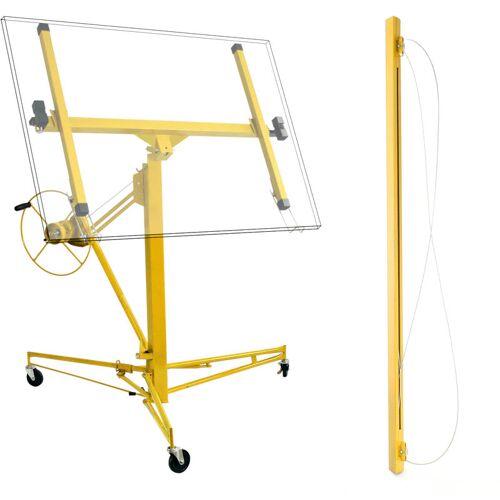 Wiltec - Plattenheber Profi Set Montagehilfe Pro 350 cm + 140 cm
