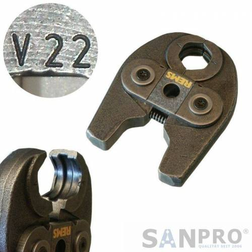 REMS Pressbacke - Presszange MINI mit Pressprofil V 22 - Rems