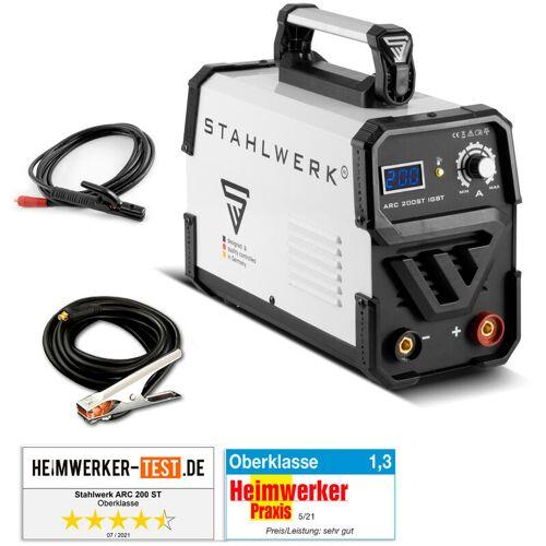 STAHLWERK Schweißgerät ARC 200 ST IGBT - DC MMA / E-Hand Welder mit 200 Ampere,