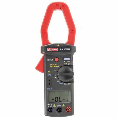 RS PRO IPM3000N LCD Zangenmessgerät / 600V dc 600V ac 1kA ac, 999.9k? - Rs Pro