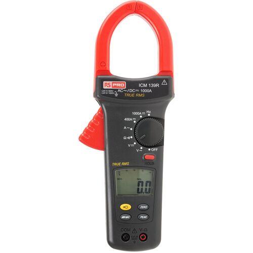RS PRO ICM139R LCD Zangenmessgerät / 1000V dc 750V ac / 1kA dc 1kA ac,