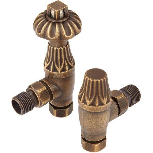 Hudson Reed - Heizkörperventil Antik in Bronze Winkelventil (im Paar)