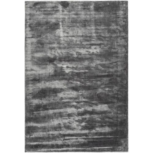 One Couture - Teppich Modern Seidig Wohnzimmer Teppiche Viskose Grau