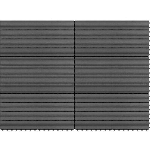 VIDAXL WPC-Fliesen 60×30 cm 6 Stk. 1m² Grau