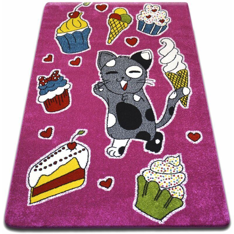 RUGSX Teppich KIDS Kuchen rosa C415 Rosatönen 200x280 cm