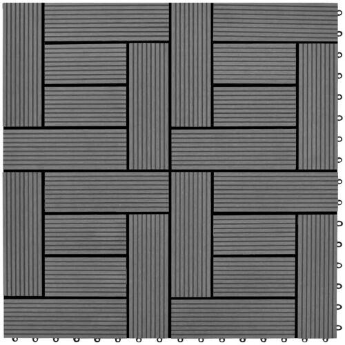 Vidaxl - Graue Terrassenfliesen 11 Stk. 30 x 30 cm WPC 1 qm