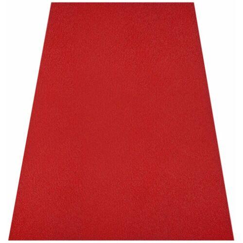 FLOORDIREKT Nadelfilz-Teppich Destiny Breite: 200 cm Rot, Länge: 900 cm