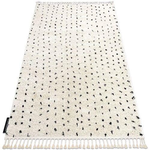 RUGSX Teppich BERBER SYLA B752 Punkte sahne Franse berber marokkanisch shaggy