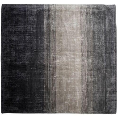 BELIANI Teppich Grau Schwarz Kunstseide Baumwolle 200 x 200 cm Ombre Muster