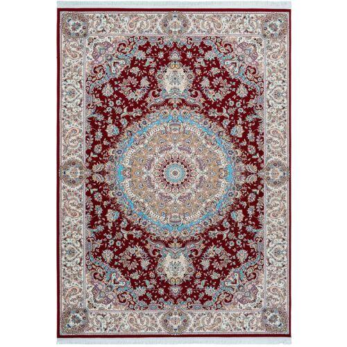 ONE COUTURE Teppich Klassisch Orientalisch Ornamente Aubusson Fransen Rot Blau