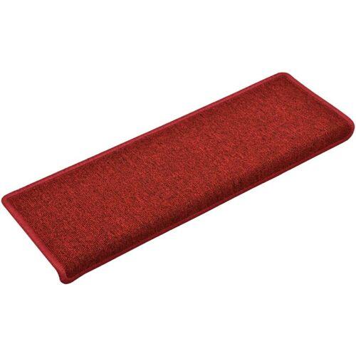 VIDAXL Teppich-Treppenstufen 15 Stk. 65 x 25 cm Rot
