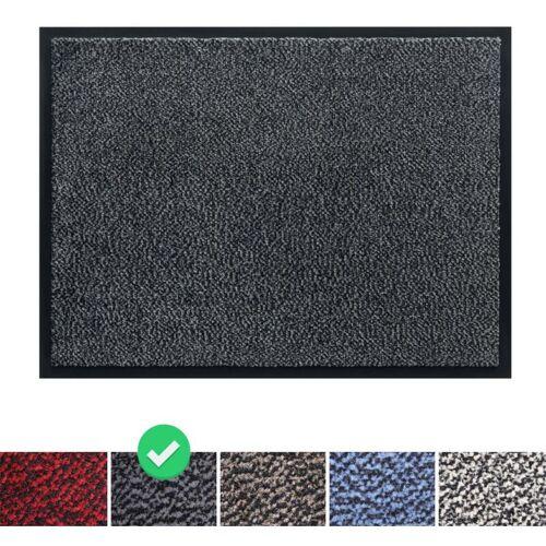 PANORAMA24 Fußmatte Schmutzfangmatte 40x60 cm, Farbe: Grau, Türmatte Fußabtreter