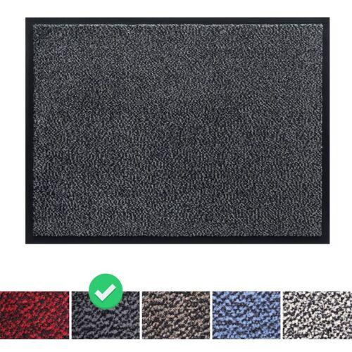 PANORAMA24 Fußmatte Schmutzfangmatte 90x120 cm, Farbe: Grau, Türmatte Fußabtreter