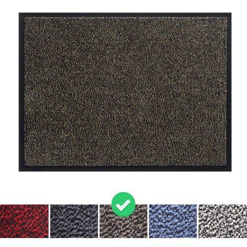 PANORAMA24 Fußmatte Schmutzfangmatte 60x90 cm, Farbe: Braun, Türmatte Fußabtreter