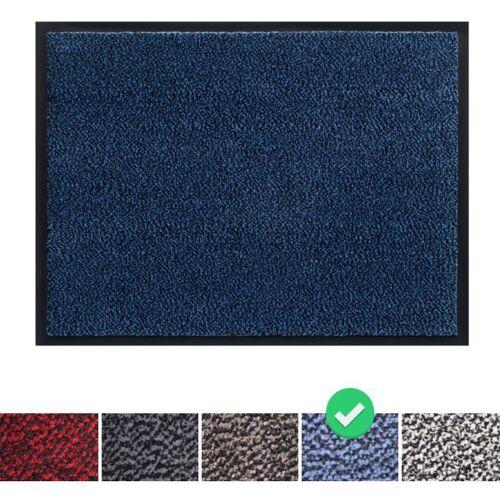 PANORAMA24 Fußmatte Schmutzfangmatte 40x60 cm, Farbe: Blau, Türmatte Fußabtreter